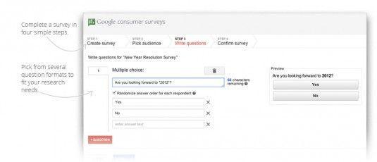 google consumer01 Google presenta Consumer Surveys para realizar encuestas