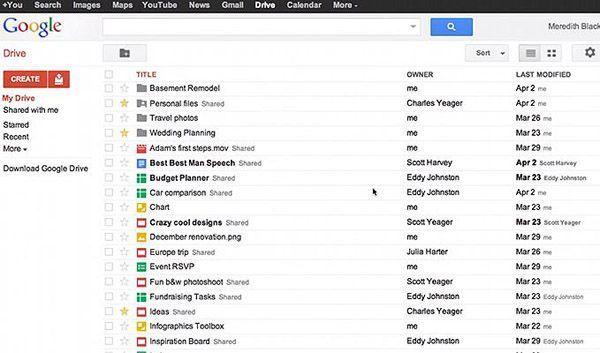 google drive captura Llega Google Drive, el esperado servicio de almacenamiento en la nube de Google