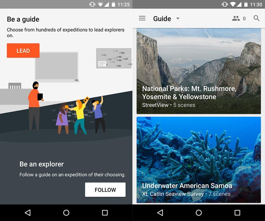Google Expeditions guide