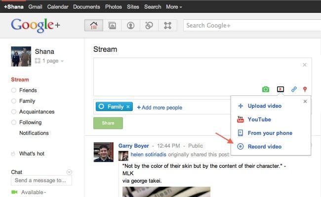 google recordvideo Las nuevas funciones de Google+
