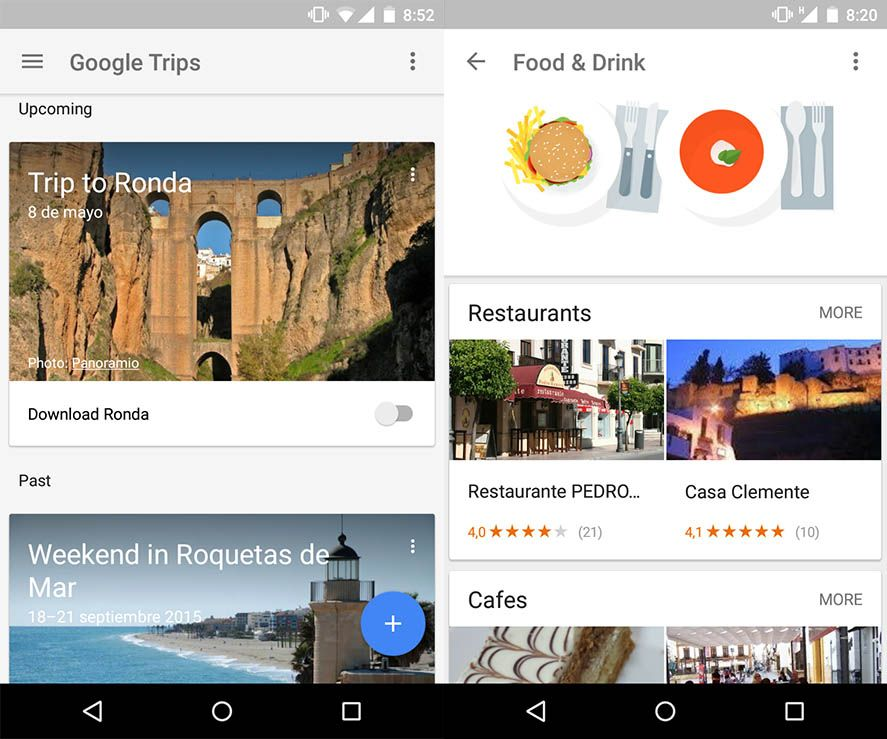 Google Trips Android screenshot
