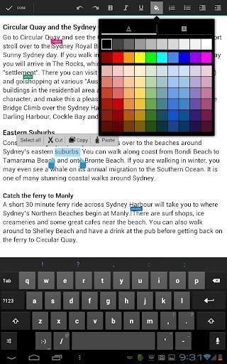 googledocs01 Google Docs para Android con edición colaborativa en tiempo real