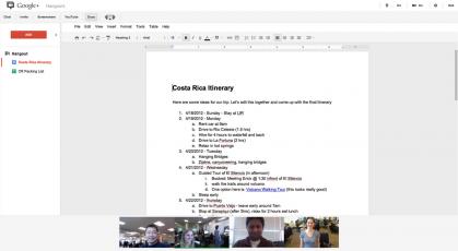 googledocs1 Google+ integra Google Docs en las quedadas y mejora los álbumes de fotos