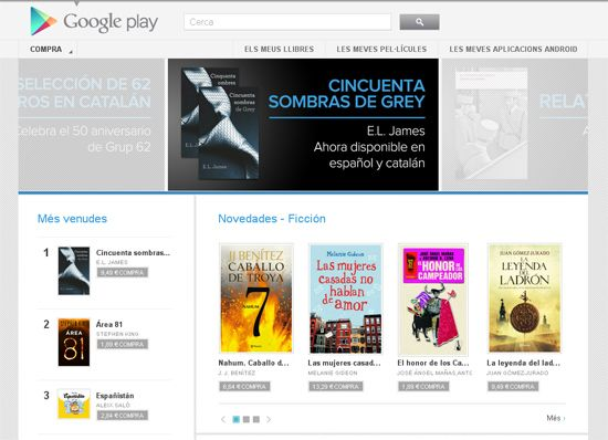 googleplaylibros Llegan los libros a Google Play en España