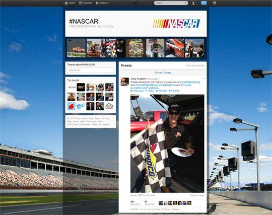 hashtag NASCAR Twitter personaliza los Trending Topics y presenta las nuevas páginas de hashtags