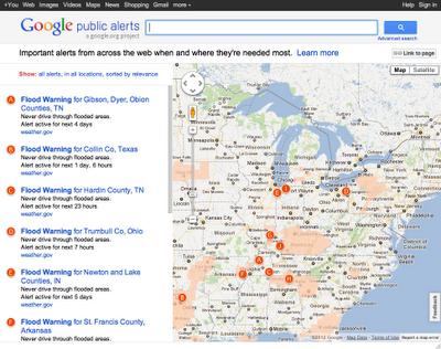 indiana3 Google Public Alerts: el nuevo servicio de alertas de emergencias naturales