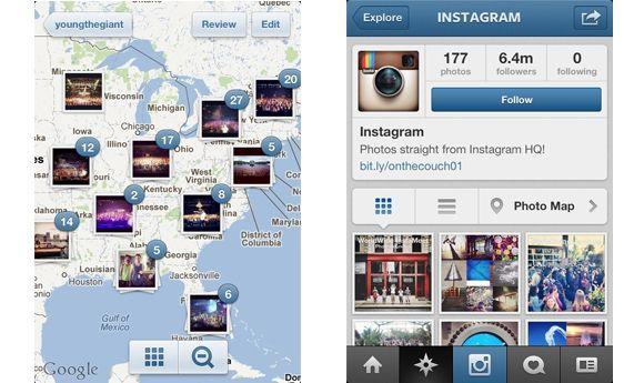 instagram maps Instagram 3.0, con nuevo diseño, mapas de fotos y scroll infinito