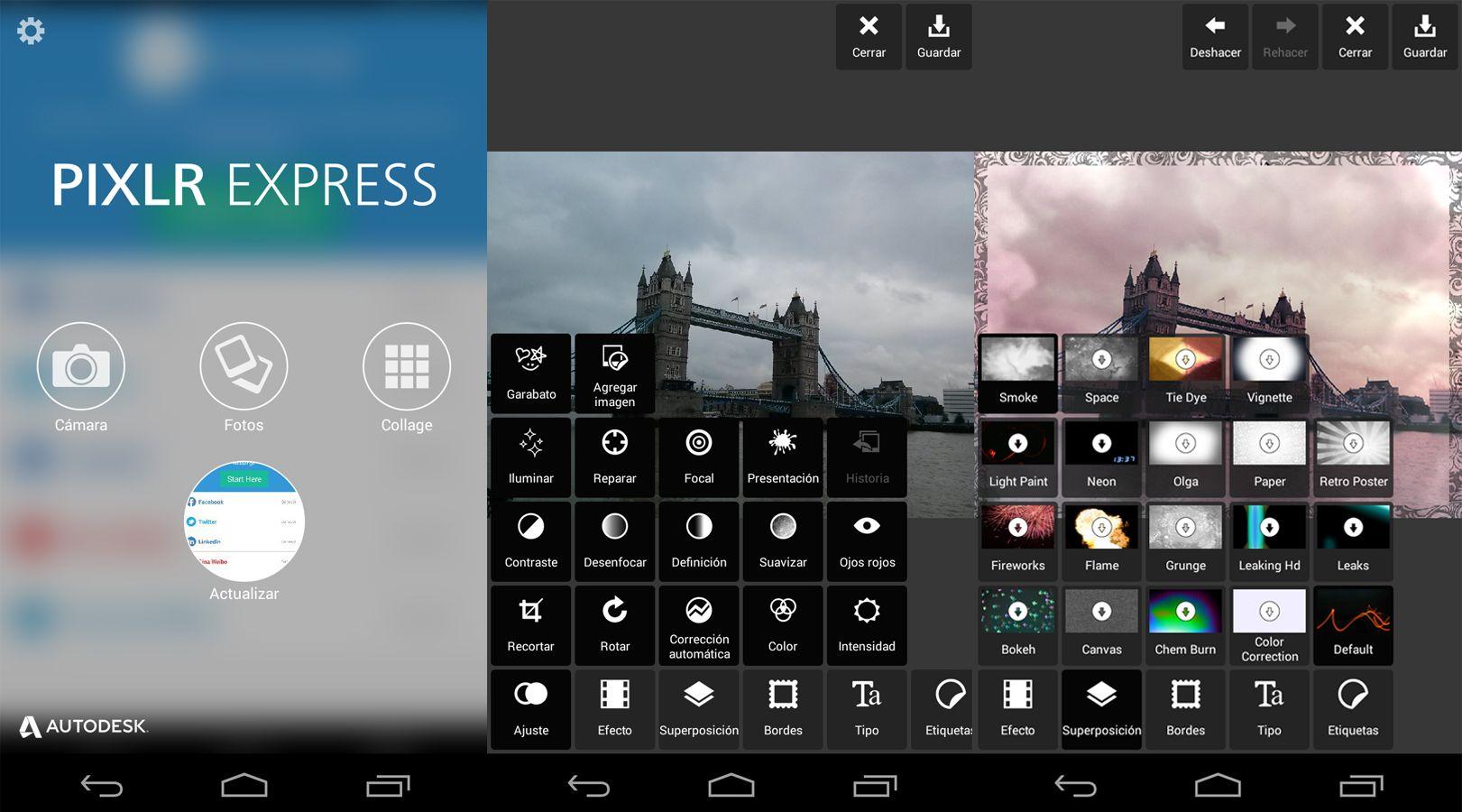 interfaz pixlr express