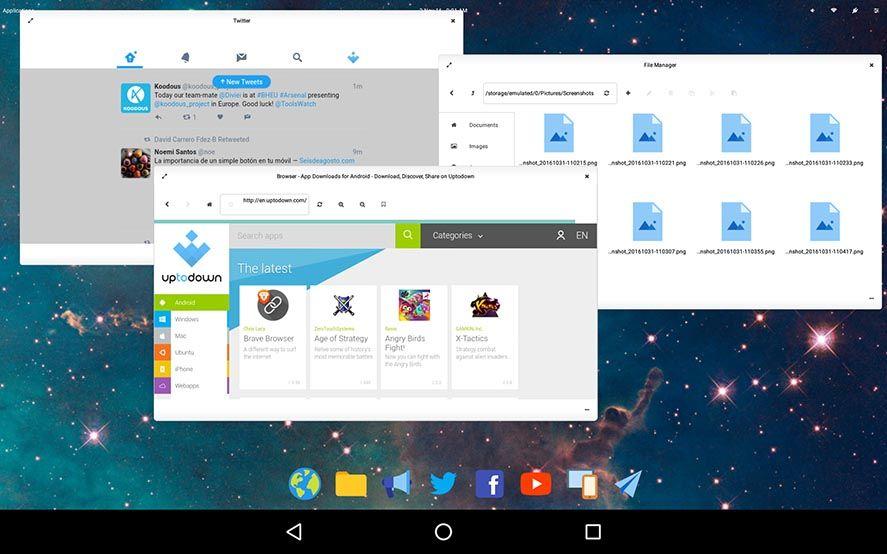 Leena Desktop UI para Android
