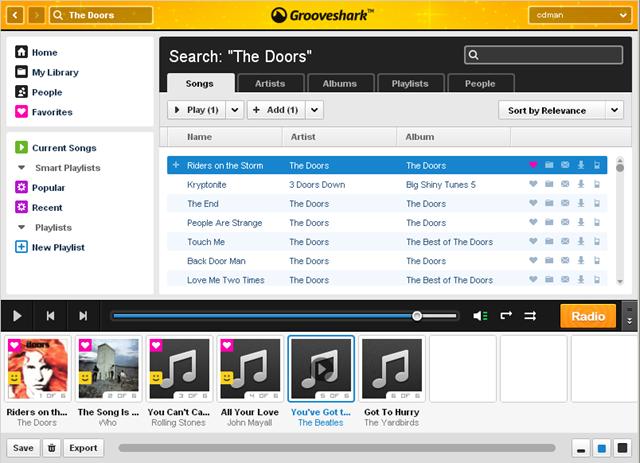 lista de reproduccion de grooveshark Grooveshark dejará de ser gratuito en algunos países