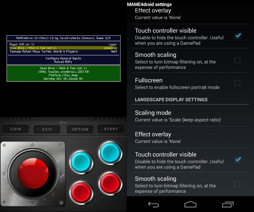 mame4droid tutorial 2 How to turn your Android into an arcade machine