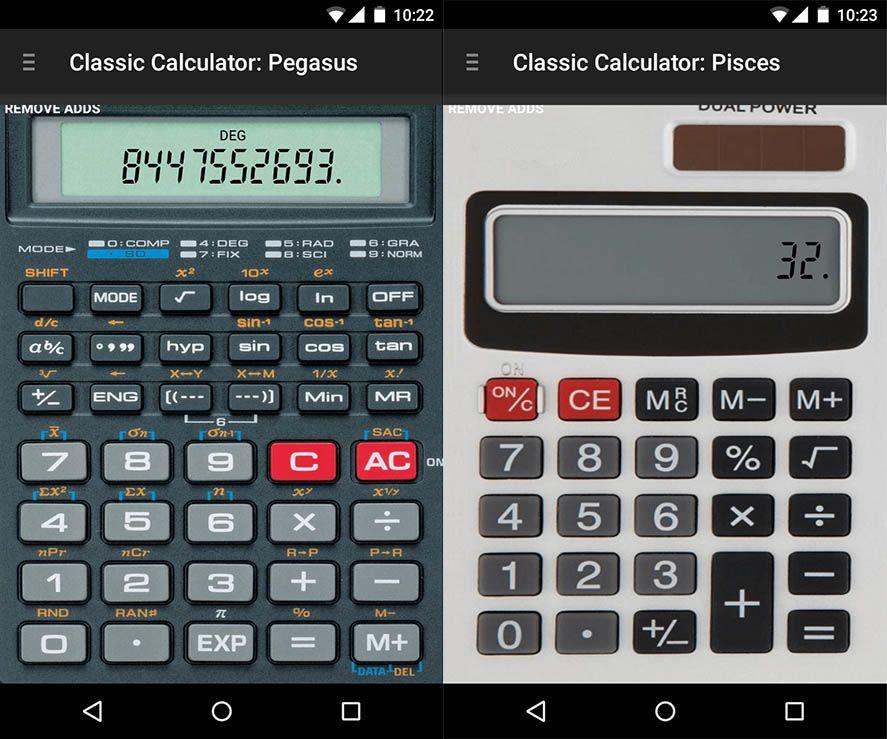 Calculadoras científicas en Android