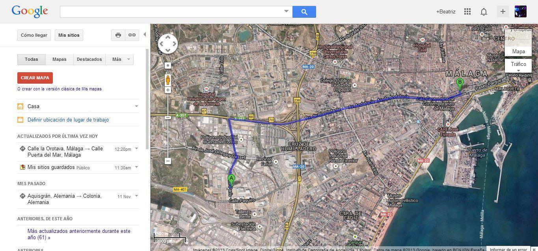 mis sitios google maps