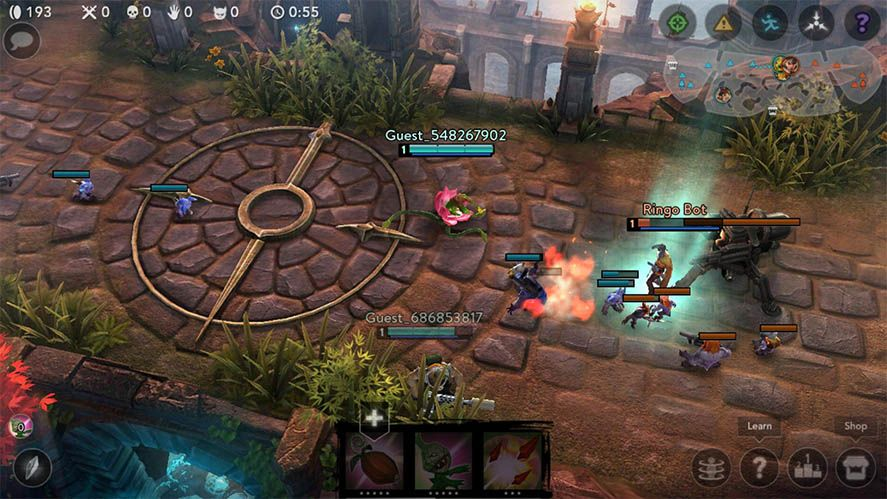 moba vainglory The most played MOBAs on Android
