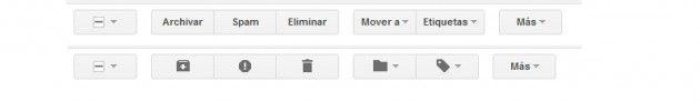 nuevos botones Nuevas características de Gmail
