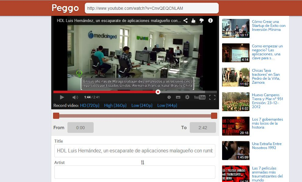 peggo1 Peggo: The simplest way to extract YouTube and SoundCloud audio