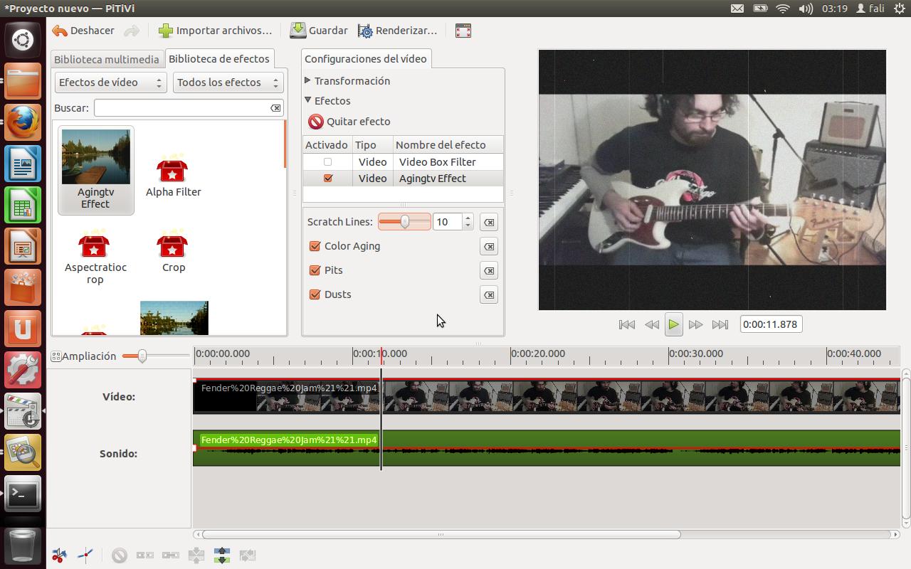 pitivi captura PiTiVi, un potente, rápido y eficaz editor de vídeos para Linux