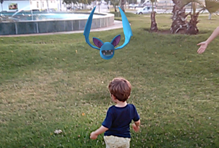 Pokemon go kid park