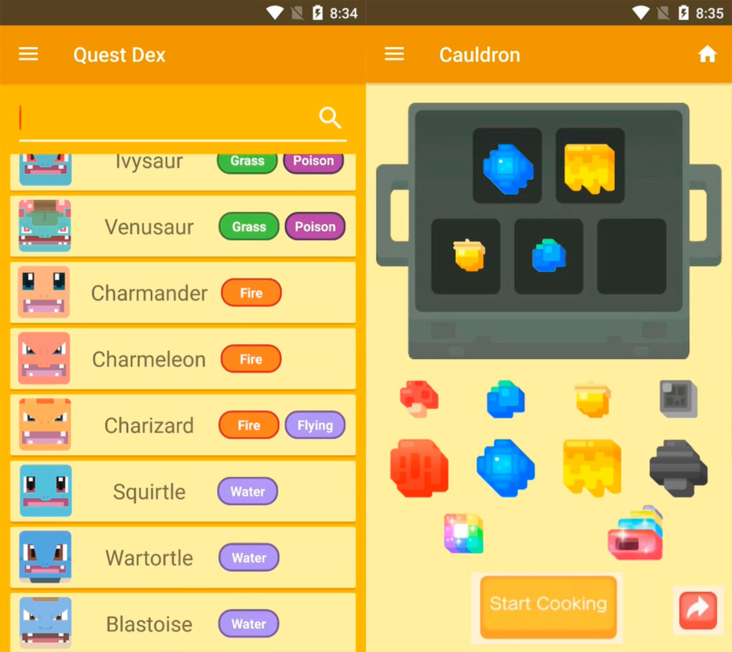 QuestDex Pokemon Quest