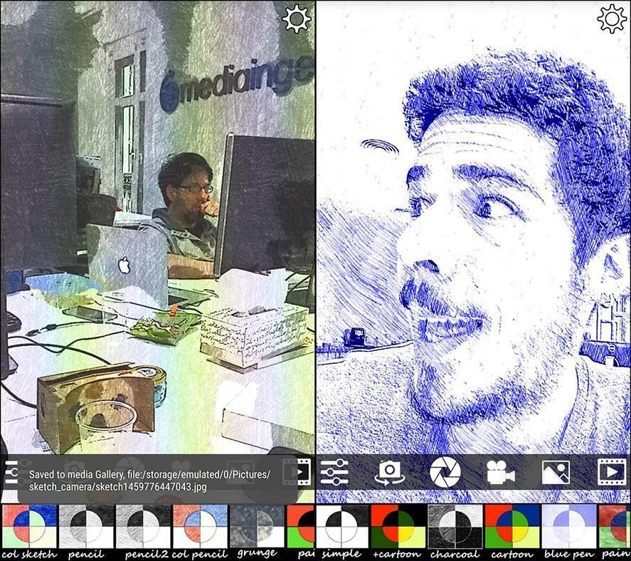 Sketch Camera filters