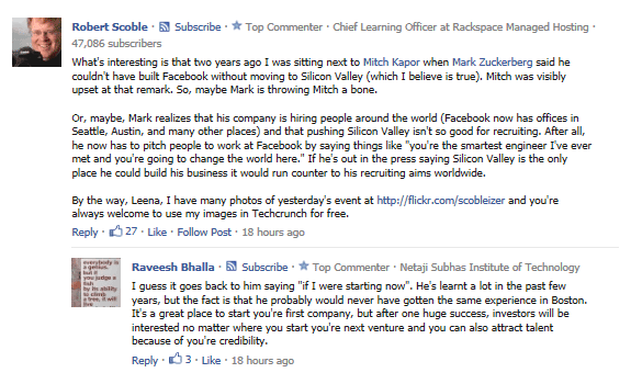 scobleizer comment Ahora Google indexa los comentarios públicos de Facebook