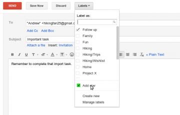 sendandlabel Nuevas características de Gmail