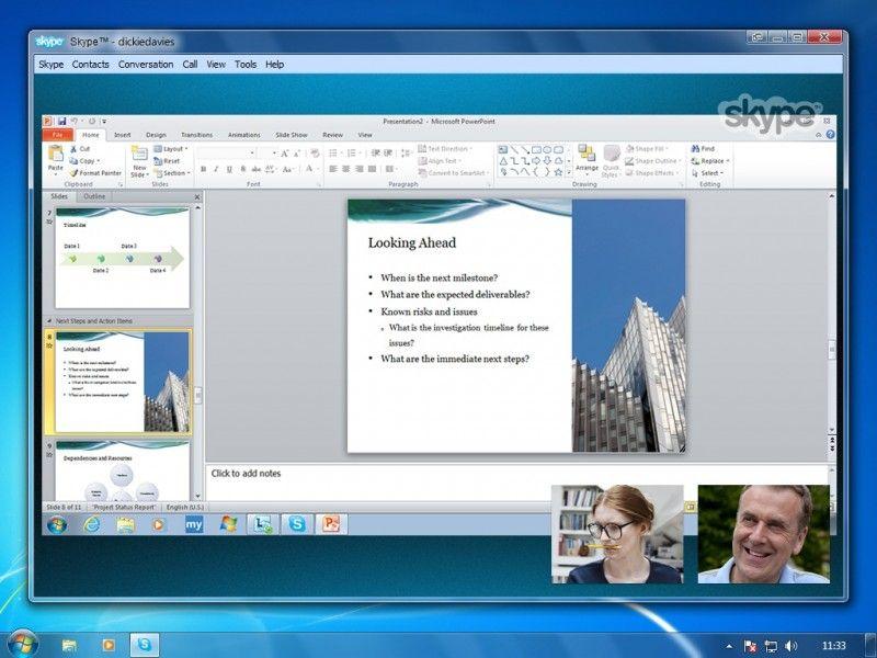 skype Nueva versión de Skype para compartir pantalla