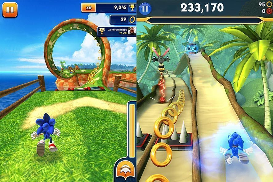 Sonic Dash 1 y 2 Android screenshot