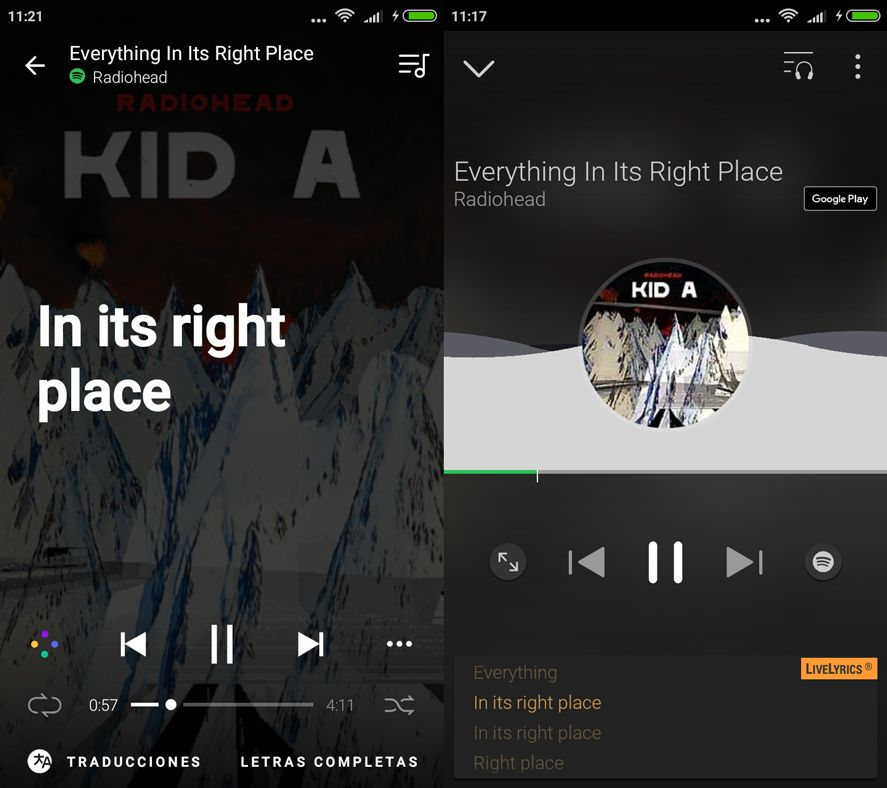 Spotify Leer Letras