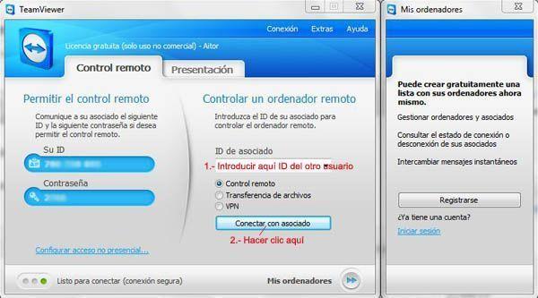 teamviewer3 Cómo acceder a otro ordenador y controlarlo con TeamViewer