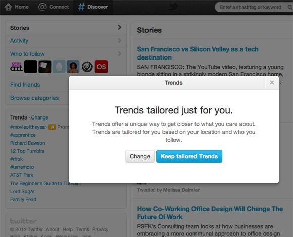 twitter trendingtropic Twitter personaliza los Trending Topics y presenta las nuevas páginas de hashtags