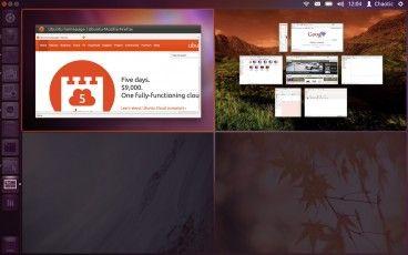 unity workspaces with workspace 05 Ubuntu presenta una nueva forma de trabajar con varias aplicaciones a la vez