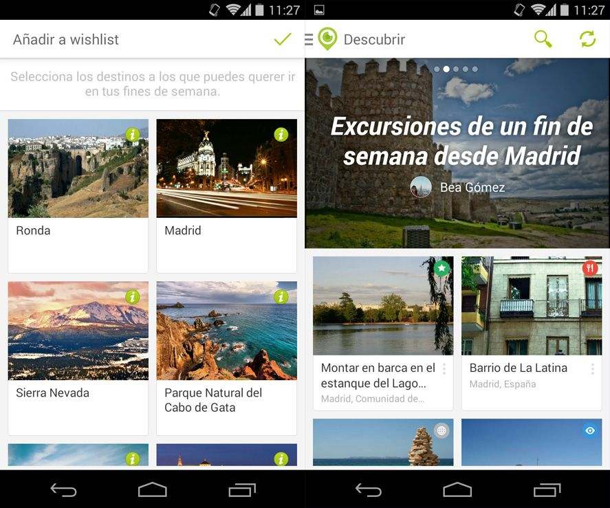 Touristeye Android screenshot