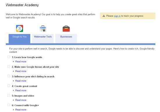 webmaster Webmaster Academy, aprende con Google