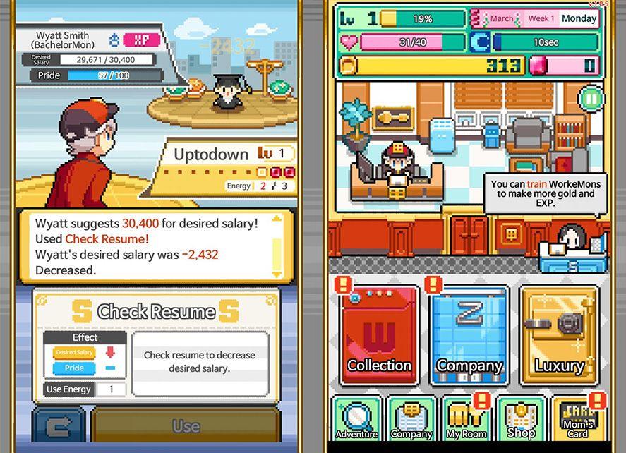 workemon screenshot 1 Workemon, una parodia de Pokémon sobre el mundo empresarial