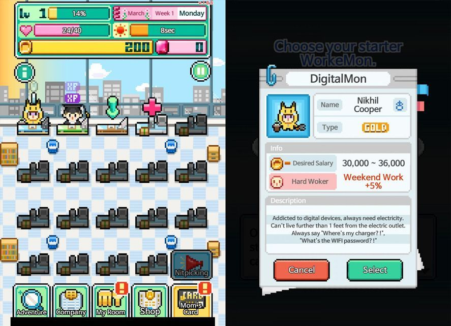workemon screenshot 2 Workemon, una parodia de Pokémon sobre el mundo empresarial