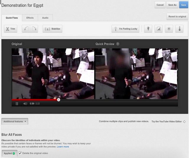 youtube difuminar YouTube presenta una herramienta para difuminar caras