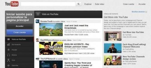 youtube rediseny YouTube renueva su diseño con nuevas funciones sociales