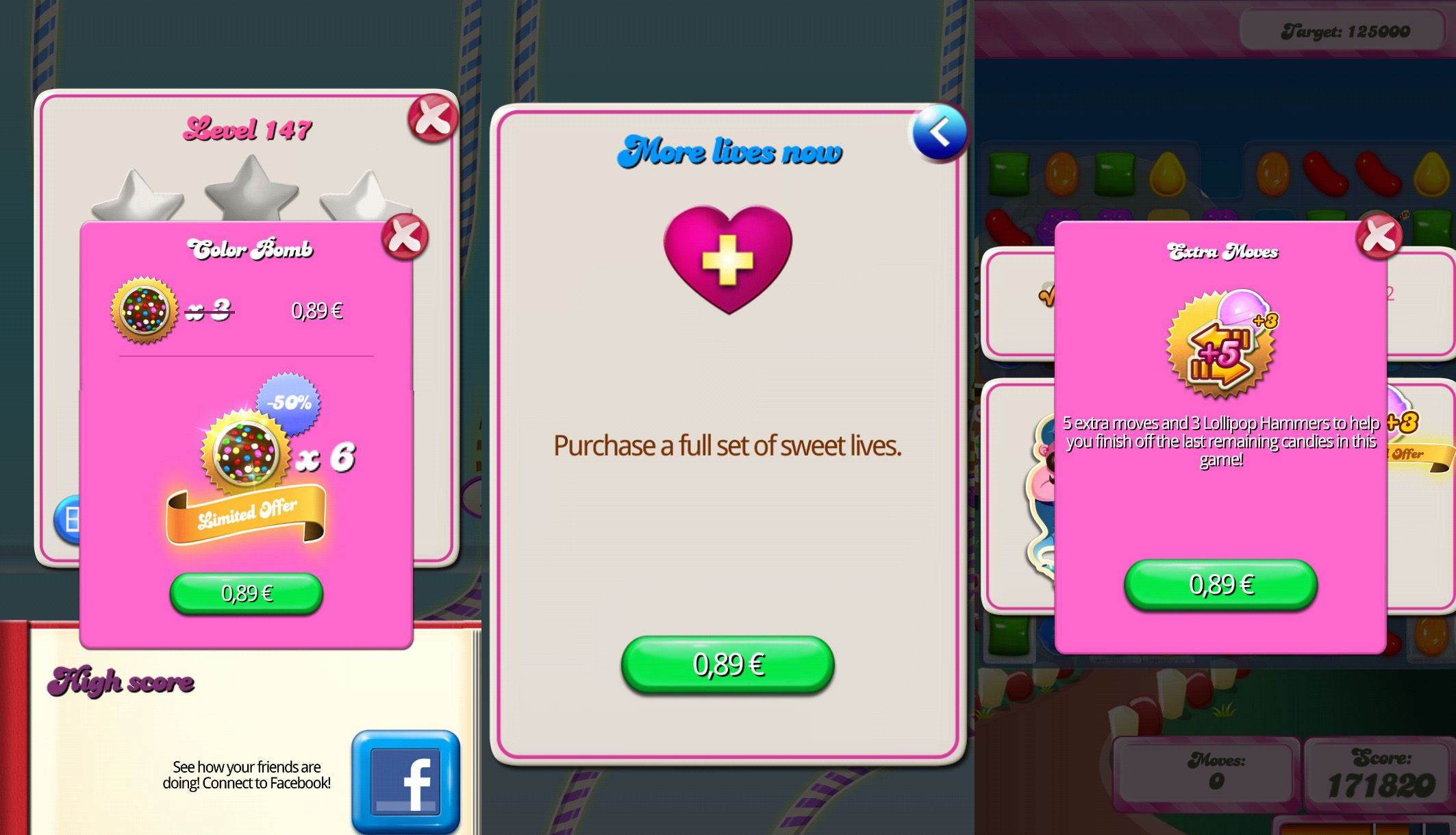 candy crush purchases