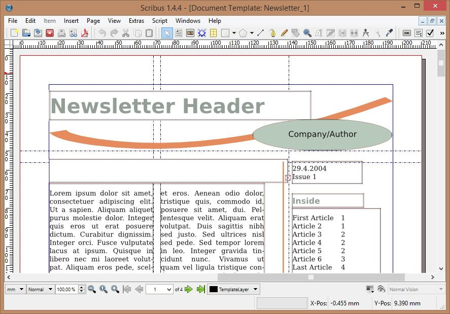 scribus newspaper template - scribus a top notch freeware desktop publishing program