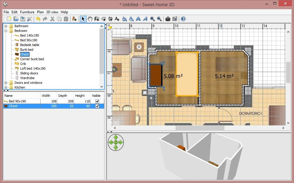 sweet home 3d en 5. How to create a 3D representation of your house