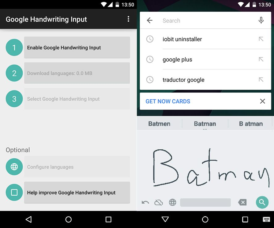 peterson handwriting app for android