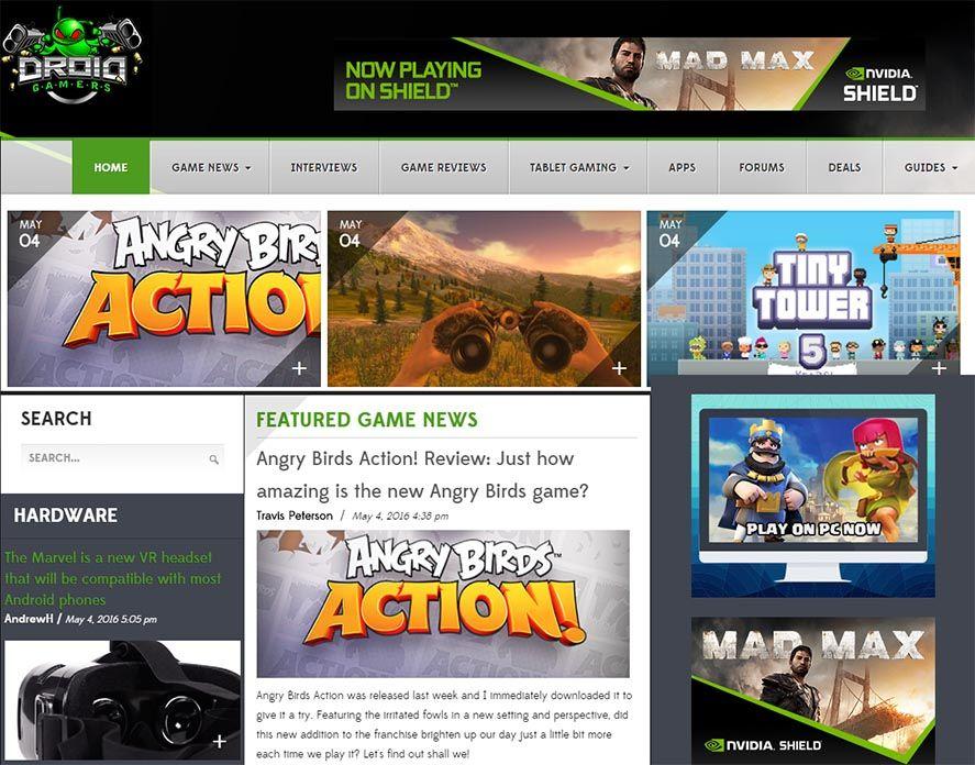 DroidGamers website