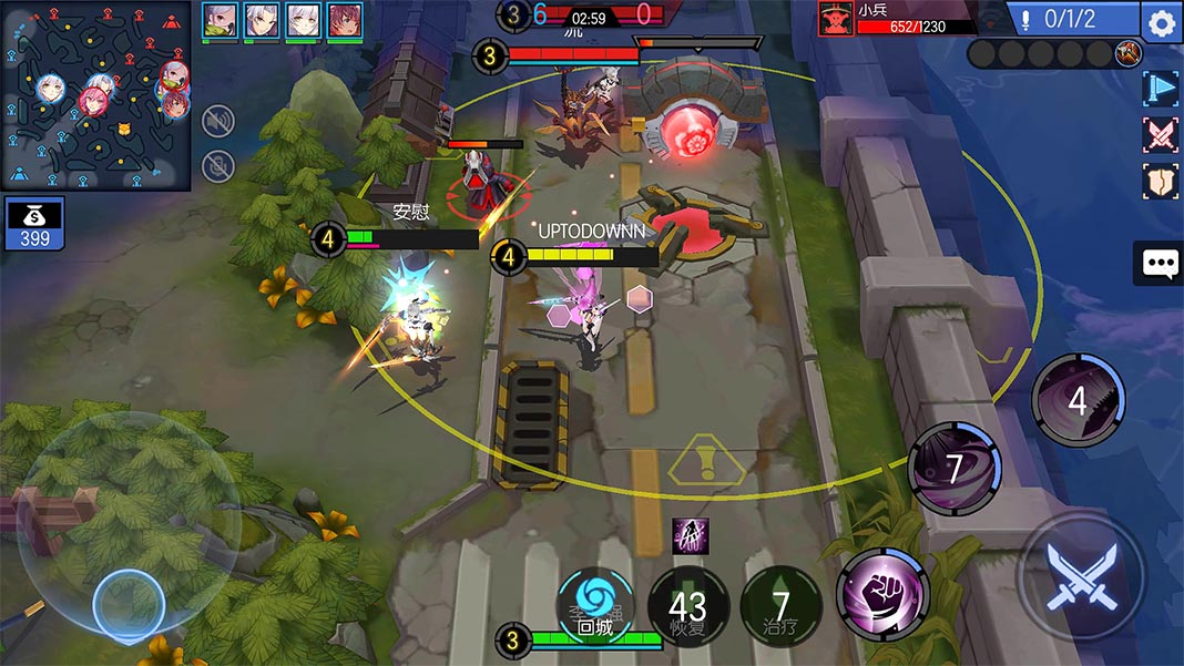 300 battle moba screenshot The most played MOBAs on Android