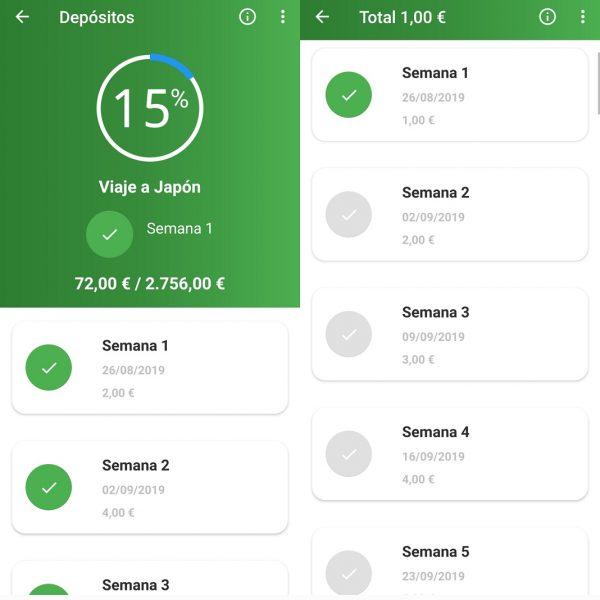 52 semanas - Apps para ahorrar