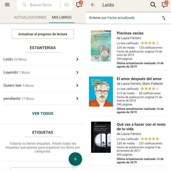 Aplicaciones para organizar libros - Goodreads