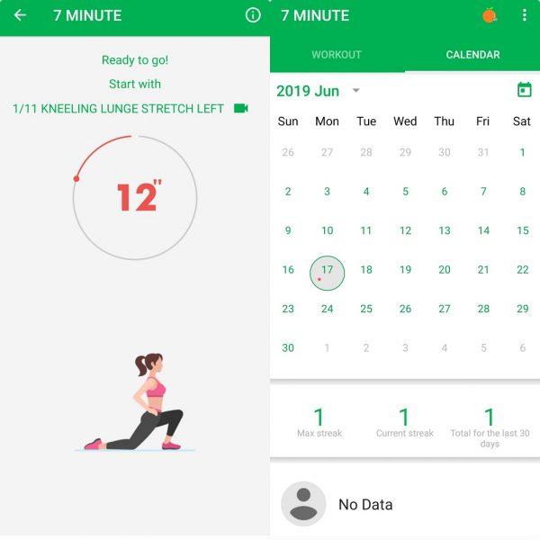Calendarios Android - Entrenamiento 7 minutos