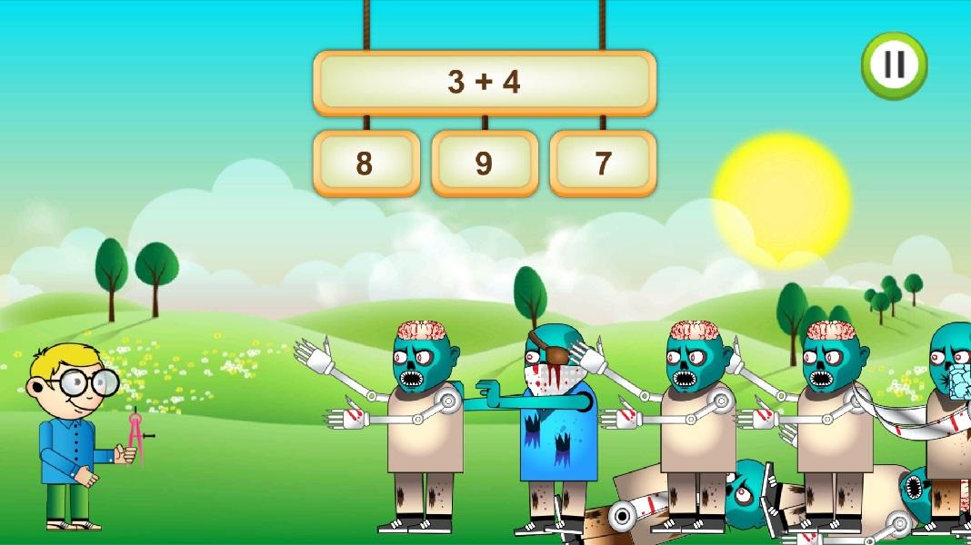 Apps infantiles para aprender matemáticas - Math Undeath