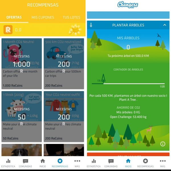 Apps medio ambiente - Changers