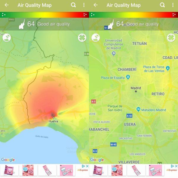 Apps medio ambiente - Breezometer